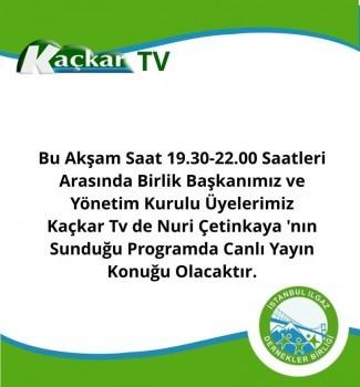 Ilgaz Dernekler Birliği Başkanı Ve Yönetimi Kaçkar Tv'nin Konuğu oldu..