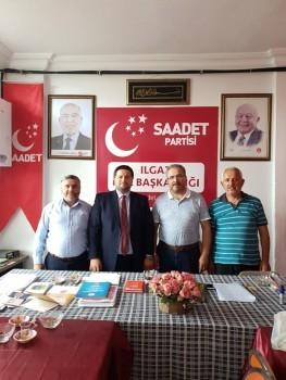Sivil toplumun dinamikleri olan siyasi parti ve stk'lara ziyaretler kapsamında,  Saadet Partisi Ilgaz İlçe Başkanı Sait Yılmaz ve İlçe yöneticilerini